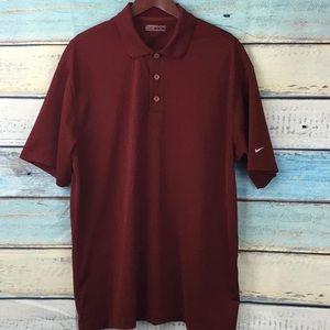 Nike Golf Fit Dry Maroon Polo Shirt